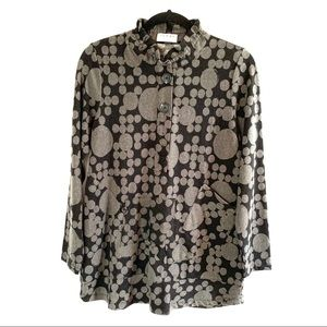 Terra SJ Apparel Tunic Top With Wired Collar Small